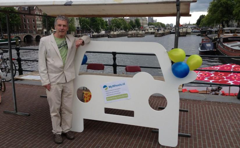 Hannekes Boot steunt Elektrisch vervoer manifestatie Magere Brug van Luud Schimmelpennink
