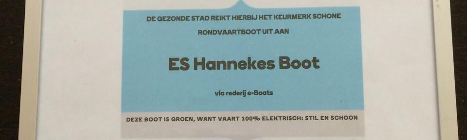 Hannekes Boot door wethouder Udo Kock gecertificeerd!